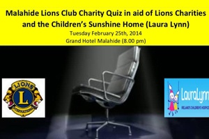 The Annual Malahide Lions Club Club Charity Table Quiz)